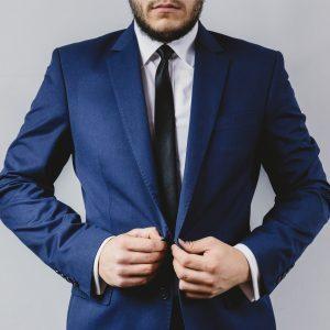 suit portrait preparation wedding
