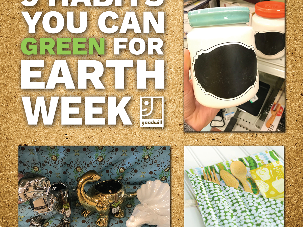 "5 Habits You Can ""Green"" This Earth Week"
