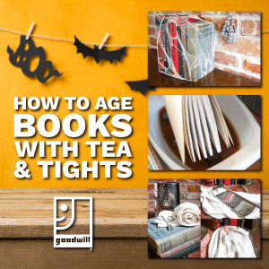 How to Age Book with Tea Lights